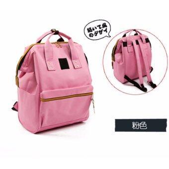 PP กระเป๋าเป้สีชมพู