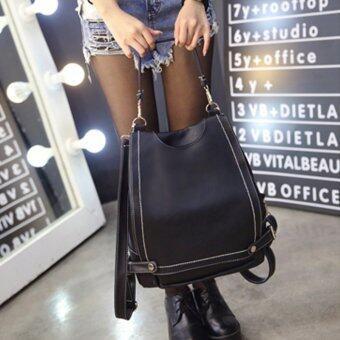 ฺBanana Shop กระเป๋าเป้สะพายหลัง กระเป๋าเป้เกาหลี กระเป๋าสะพายหลังผู้หญิง backpack women รุ่น LP-067 (สีดำ)