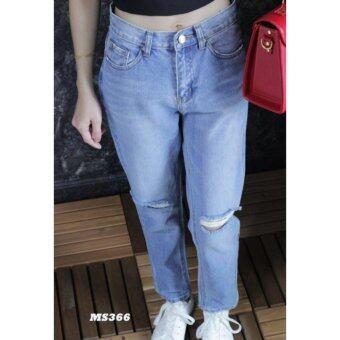 platinum fashion กางเกงยีนส์ขายาว สินค้านำเข้า เนื้อผ้า สีสวย รุ่นPMS366