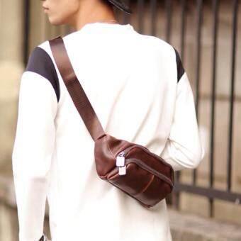 Osaka กระเป๋าคาดไหล่ คาดอก คาดเอว รุ่น NE819 (Brown)