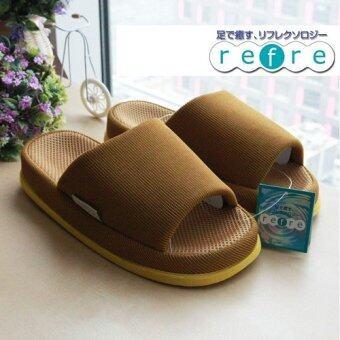 Refre รองเท้าแตะเพื่อสุขภาพ สไตร์ญี่ปุ่น (ไซร์ L สีเหลืองเข้ม สำหรับสุภาพบุรุษ)