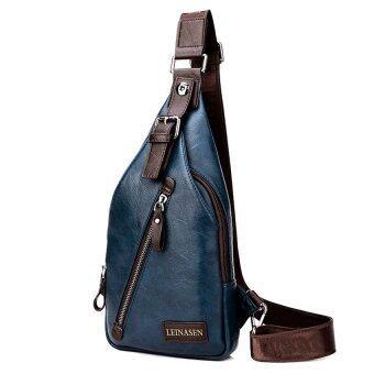 คนประกอบด้วยชายสันทนาการกระเป๋าสะพายกระเป๋าเป้กระเป๋าสะพายห่อหนึ่งห่อกระเป๋าหน้าอกเอว (สีน้ำเงิน/ไม่มีกระเป๋าสตางค์)