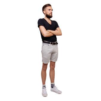 PHIL กางเกงขาสั้น รุ่น PP13SH001LGY - สีเทาอ่อน