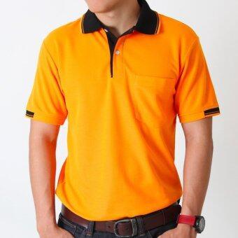 POLOMAKER เสื้อโปโล KanekoTK PK009 สีส้มปกดำ (Male)