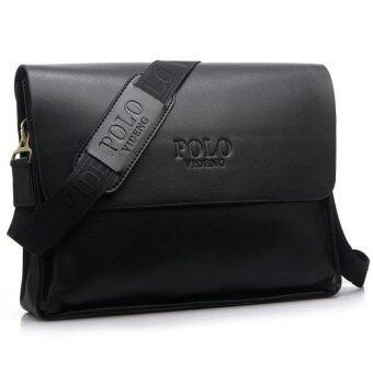 Trusty กระเป๋าหนัง กระเป๋าเอกสาร กระเป๋าโน็ตบุ๊ค POLO รุ่น VIDENG 0682 - สีดำ