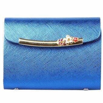 Matteo กระเป๋าใส่บัตรเครดิต 26 ใบ รุ่น Sparkling - สีฟ้า