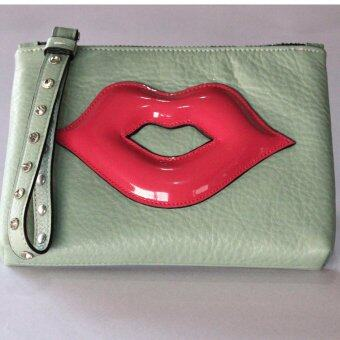 PINK PENNY'S Lip Diamond สีเขียว-ปากชมพู