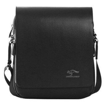 Top Class กระเป๋าสะพายหนัง Kangaroo Kingdom - สีดำ