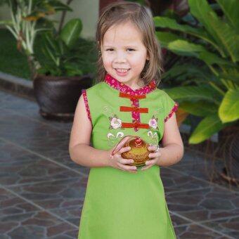 Princess of Asia ชุดเดรสเด็กผู้หญิง ชุดเดรสทรงจีน (สีเขียว)