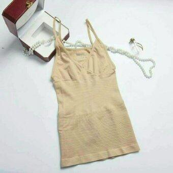 MUNAFIE slimming vest เสื้อกระชับสัดส่วน เก็บส่วนเกิน(สีเนื้อ) - 1 ตัว