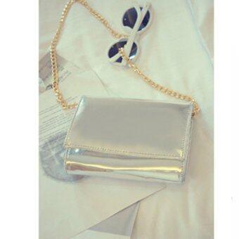 Ccjeans กระเป๋าสะพายข้างสำหรับคุณผู้หญิง (Silver)