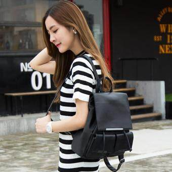Little Bag กระเป๋าเป้เกาหลี กระเป๋าสะพายหลังผู้หญิง กระเป๋าแฟชั่น backpack women รุ่น LP-153(สีดำ)