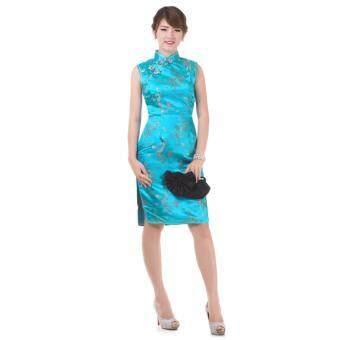 Princess of Asia กี่เพ้าสั้ัน (สีฟ้า)