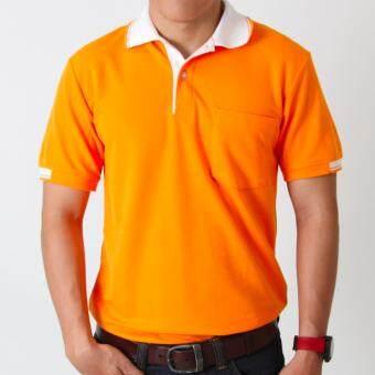 POLOMAKER เสื้อโปโล KanekoTK PK007 สีส้มปกขาว (Male)