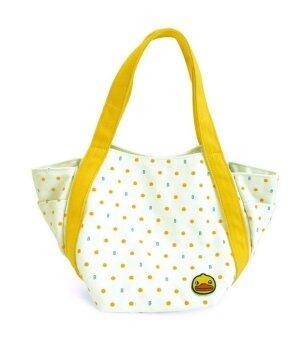B.Duck Tote Bag Small Dot กระเป๋าสะพายน้องเป็ด (White)