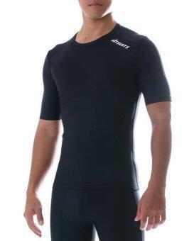 FITSUITS เสื้อแขนสั้น กระชับกล้ามเนื้อ รัดกล้ามเนื้อ SPORTS COMPRESSION ชุดกีฬา ออกกำลังกาย ว่ายน้ำ วิ่ง ฟิตเนส ฟุตบอล รุ่น ORIGINAL FS-S002 สีดำ BLACK