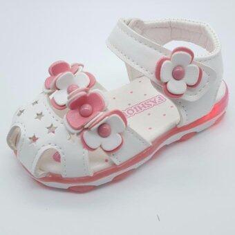 Alice Shoe รองเท้าผ้าใบเด็ก แฟชั่นเด็กผู้ชาย&เด็กผู้หญิง รุ่นSD024-W(สีขาว)