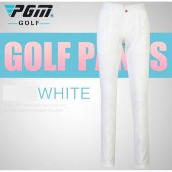 EXCEED LADY PANT PGM ( WHITE ) กางเกงกอล์ฟสำหรับสุภาพสตรี สีขาว KUZ013