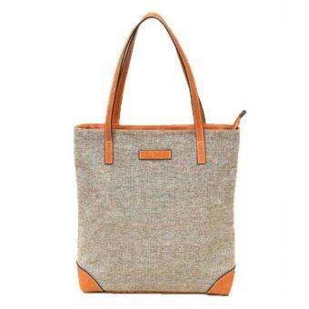 Stmartshop Fashion Bag รุ่น 206 - สีเทา/ขาว