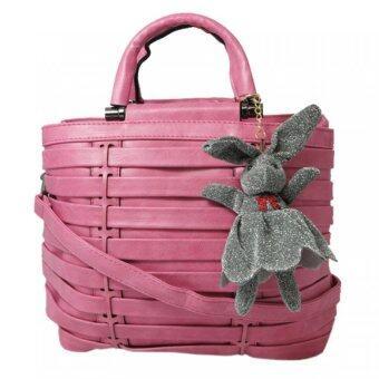 กระเป๋าถือ กระเป๋าสะพาย ผู้หญิง รหัส.69175 (สีชมพู)