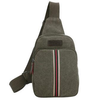 2559 ใหม่กระเป๋ากระเป๋าแฟชั่นผู้ชายกระเป๋าหน้าอกพเนจร (กองทัพสีเขียว)-ระหว่างประเทศ