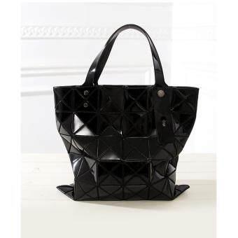 Marverlous กระเป๋าสะพายข้าง กระเป๋าถือ กระเป๋าลายพีรมิด FG6-สีดำ