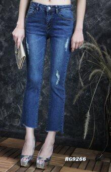 Platinum Fashion กางเกงยีนส์ขายาวเอวสูง ขาม้า รุ่นRG9266