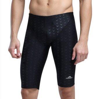 ชายกางเกงว่ายน้ำสำหรับดำน้ำตื้นว่ายน้ำเล่นวินเซิร์ฟบีชแอนด์สปาชายกางเกงว่ายน้ำ (สีดำ)