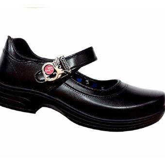 Popteen รองเท้านักเรียนหญิง - สีดำ