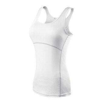 กีฬาออกกำลังกายของสตรีเสื้อซับเสื้อกล้ามแบบโยคะ (ขาว)
