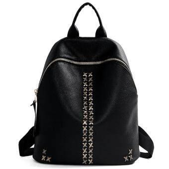 Little Bag กระเป๋าเป้สะพายหลัง กระเป๋าเป้เกาหลี กระเป๋าสะพายหลังผู้หญิง backpack women รุ่น LP-076 (สีดำ)