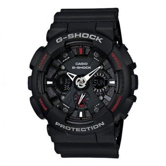 Casio G-Shock ผู้ชายสีดำยางรัดนาฬิกา GA-120 แบบ 1 Amp