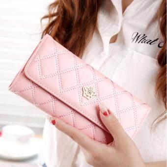 B'nana Beauty กระเป๋าสตางค์ใบยาว กระเป๋าเงินผู้หญิง กระเป๋าตังตามวันเกิด กระเป๋าสตางค์น่ารัก กระเป๋าตังสวยๆ รุ่น GC-03 (สีชมพู)