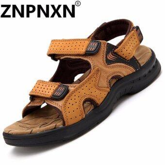 คนหนัง ZNPNXN ' รองเท้ารองเท้าแตะ sFashion (กากี)