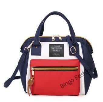 ขายถูก Good กระเป๋า กระเป๋าสะพายข้างสำหรับผู้หญิง No.01 - White Red เช็คราคา
