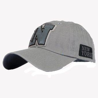 Harga AOSEN FASHION The new tide letter N baseball cap hat man s casual couple Ms. sun hat Grey - Intl