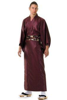 Princess of asia ชุดยูกาตะผู้ชายญี่ปุ่น - สีเลือดหมู
