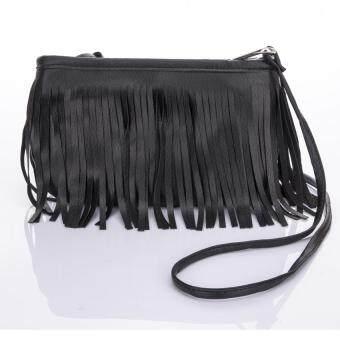 Premium Bag กระเป๋าแฟชั่น กระเป๋าสะพายข้าง รุ่น PB-010(สีดำ)
