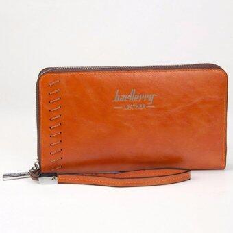 MATTEO กระเป๋าสตางค์ใบยาว ซิปรอบ Long Wallet Baellerry - สีส้ม