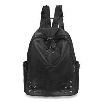 Marverlous กระเป๋าเป้สะพายหลัง กระเป๋าเป้เกาหลี กระเป๋าสะพายหลังผู้หญิง Fshion Backpack No.1209-สีดำ