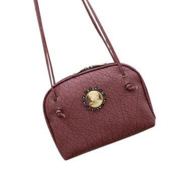 กระเป๋าถือผู้หญิงกระเป๋าสะพายหนังกระเป๋าสะพายเรโทรสารสีแดง