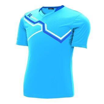 WARRIX SPORT เสื้อฟุตบอลพิมพ์ลาย WA-1516 สีฟ้า-น้ำเงิน