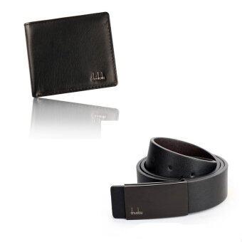 สร้างเจตนาแบบคาดเข็มขัดหนังรัดเอวเป็นทางการ และผู้ถือบัตรเครดิตกระเป๋าสตางค์หนังเงินประจำชุดสีดำ