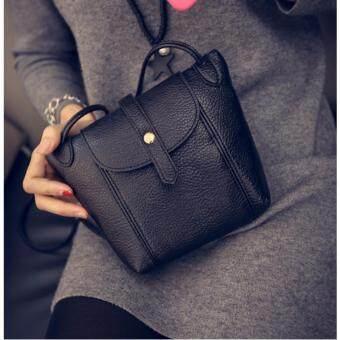 Moniga-Moniga กระเป๋าถือสายสะพายรุ่น Dory พร้อมเข็มขัดโบว์สีดำBe5 1 ชิ้น