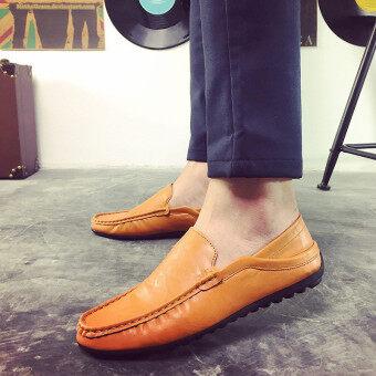 แฟชั่นรองเท้าหนังลื่นคนขับ Loafers อังกฤษแต่งตัวรองเท้าลำลอง