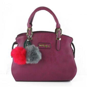 กระเป๋าถือ กระเป๋าสะพาย ผู้หญิง รหัส.69185 (สีม่วง)