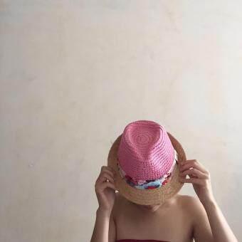 Goodtmeshops หมวกปานามา Sherbet trilby-Pink