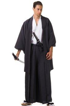 Princess of asia ชุดฮากามะพร้อมเสื้อคลุมฮาโอริ (สีขาว-ดำ)