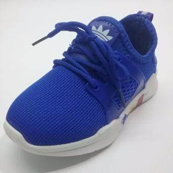 Alice Shoe รองเท้าผ้าใบ แฟชั่นเด็กผู้ชาย และ เด็กผู้หญิง รุ่น SKL120-BE( สีน้ำเงิน)