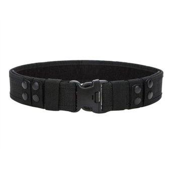 Harga Police Military Training Canvas Belt Tactical Adjustable Waist Belts(Black) - Intl